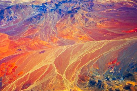 Land Pattern on Atacama Desert, Chile by Keren Su / Danita Delimont art print