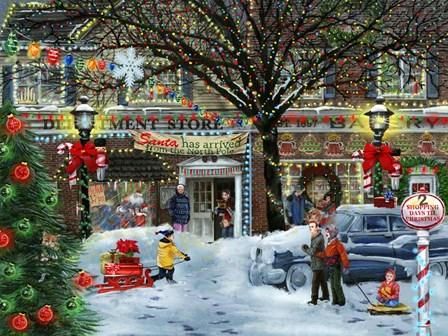 Christmas on Main Street by Tom Wood art print