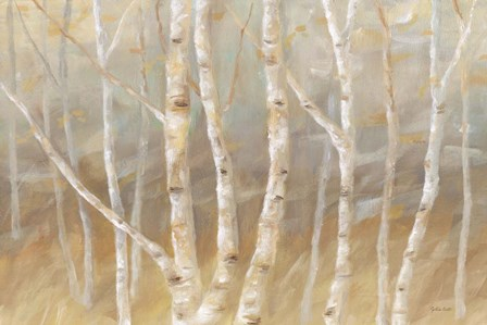 Autumn Birch landscape by Cynthia Coulter art print
