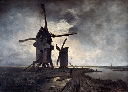 Windmills of the Surrounding Landscape of Lille, 1877 by Emmanuel Lansyer art print