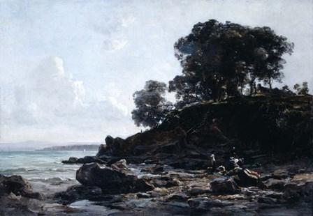 Laundrette at Low Tide, 1891 by Emmanuel Lansyer art print