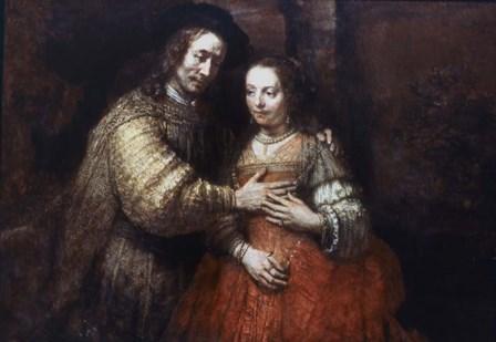 The Jewish Bride, (The Loving Couple), 1667 by Rembrandt van Rijn art print
