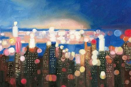 City Lights by James Wiens art print
