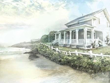 Beach Cottage by Arnica Burnstone art print