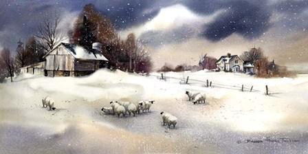 Brians Barn by Brenda Tustian art print