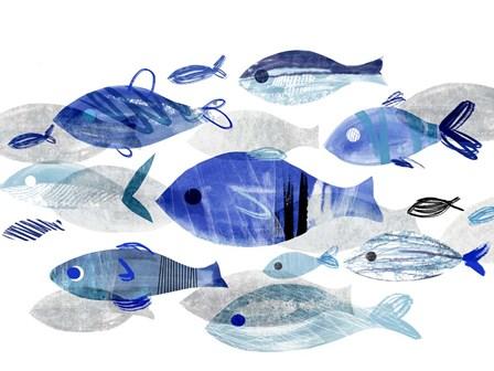 Fish Parade II by Annie Warren art print