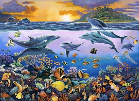 Undersea League by John Zaccheo- Exclusive art print