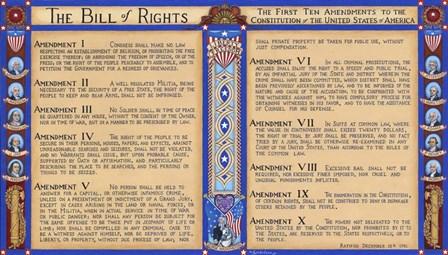 Bill Of Rights by Kathy Jakobsen art print