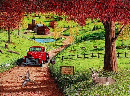 Autumn in Pleasant Valley by Mike Bennett art print