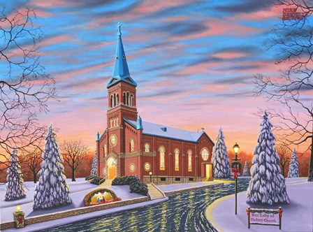 Christmas at Our Lady of Victory #2 by Mike Bennett art print