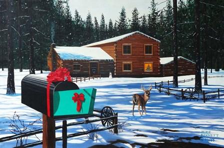 Christmas in Big Bear by Mike Bennett art print