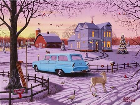 Christmas in Rantoul by Mike Bennett art print