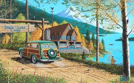 Eagle Lake Lodge by Mike Bennett art print
