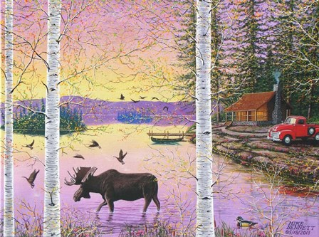 Moose Lodge by Mike Bennett art print
