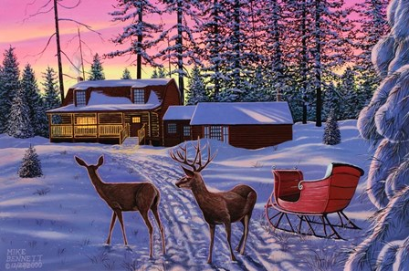 Winter in Running Springs by Mike Bennett art print