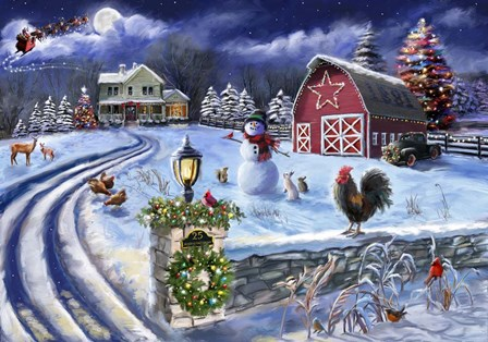 25 Holiday Farm Road by Marie August-Anderson art print