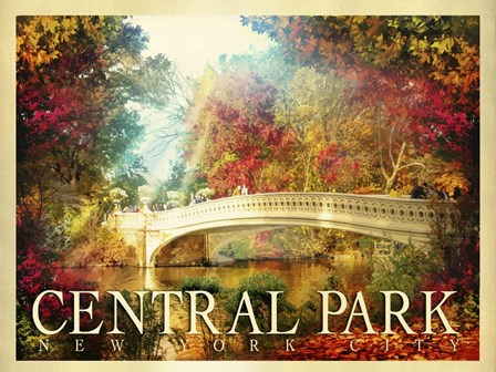 Central Park 2 by Old Red Truck art print