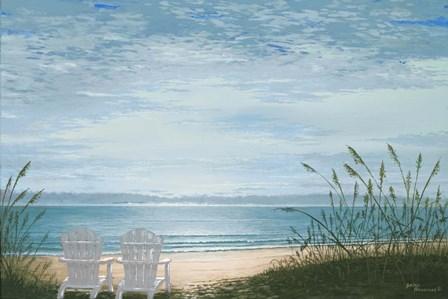 Beach Chairs by Bruce Nawrocke art print