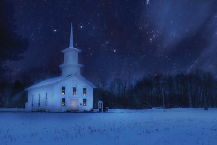 Starry Night Church by Lori Deiter art print