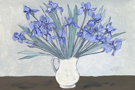 Van Gogh Irises II by Melissa Wang art print