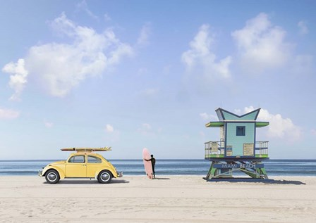 Waiting for the Waves, Miami Beach by Gasoline Images art print