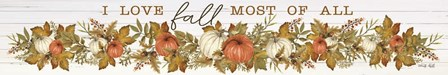 I Love Fall Pumpkins by Cindy Jacobs art print