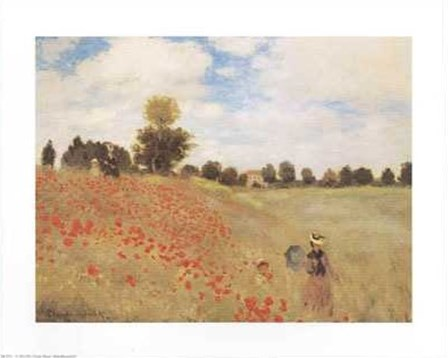 Poppy Fields by Claude Monet art print