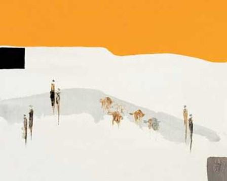 La Route Du Desert I by Christian Choisy art print