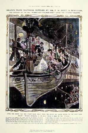 Titanic: Women and Children by Daugherty art print