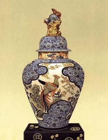 Oriental Blue Vase I art print