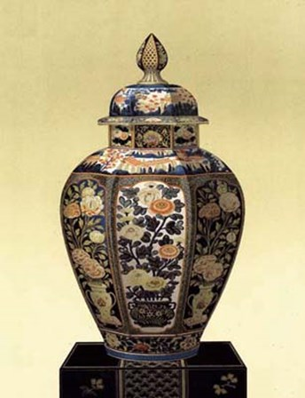 Oriental Blue Vase II art print