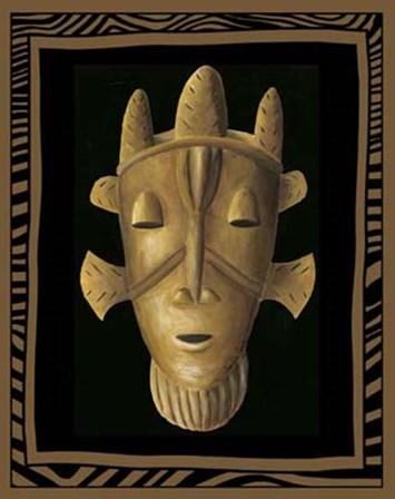 African Mask II by Chariklia Zarris art print