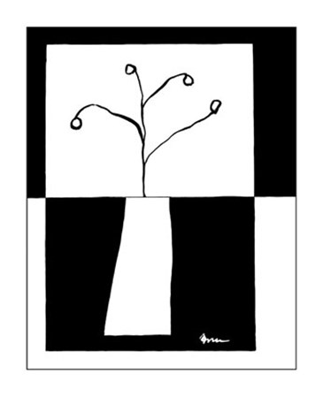 Minimalist Flower in Vase III by Jennifer Goldberger art print