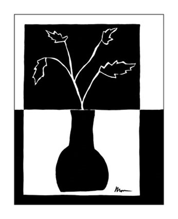 Minimalist Leaf in Vase I by Jennifer Goldberger art print