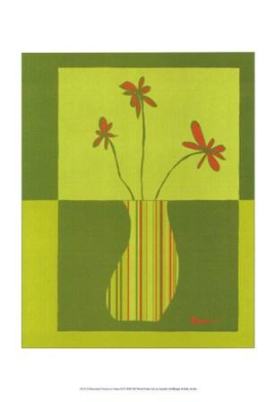 Minimalist Flowers in Green III by Jennifer Goldberger art print