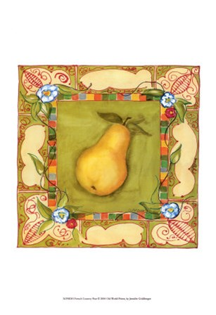 French Country Pear by Jennifer Goldberger art print