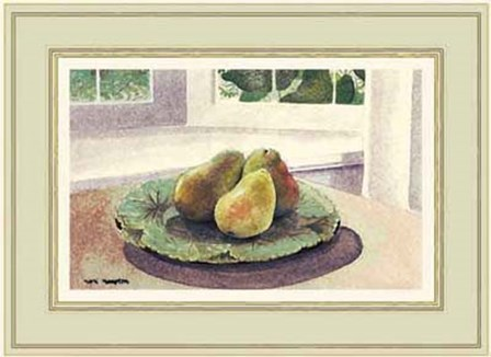 Still Life with Pears in a Sunny Window by Mark Hampton art print