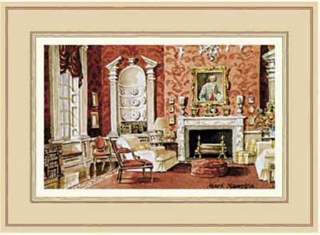 A Classic English Country House Drawing Room by Mark Hampton art print