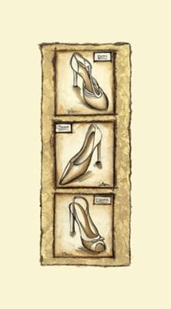 Printed-Sepia Shoes II art print