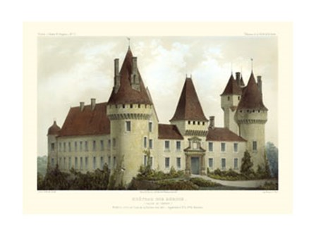 French Chateaux I by Victor Petit art print