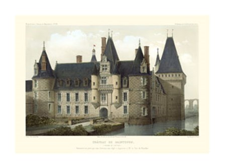 French Chateaux II by Victor Petit art print