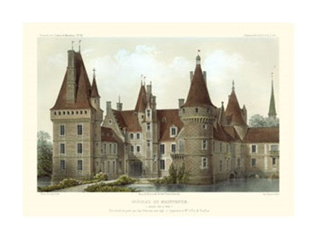 French Chateaux IV by Victor Petit art print