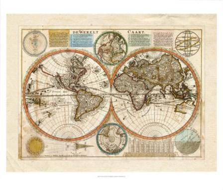 Dewerelt Caart Map art print