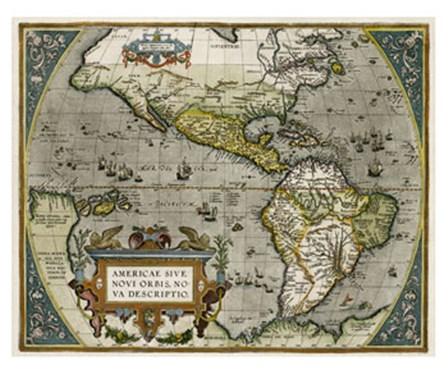 Novi Orbis Map art print