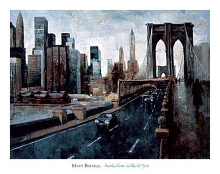 Manhattan Without You by Marti Bofarull art print