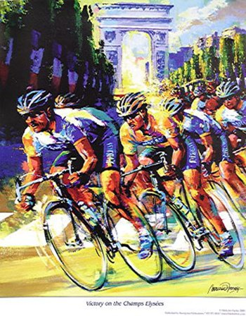 Victory on the Champs Elyses by Malcolm Farley art print