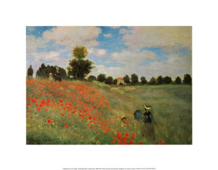 Wild Poppies by Claude Monet art print