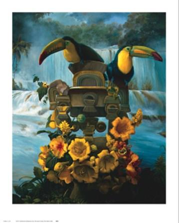 Cascadas de Aguazul by Gabriela Ezcurra art print