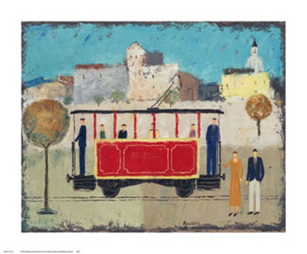 Street Railway by Gia Revazi art print