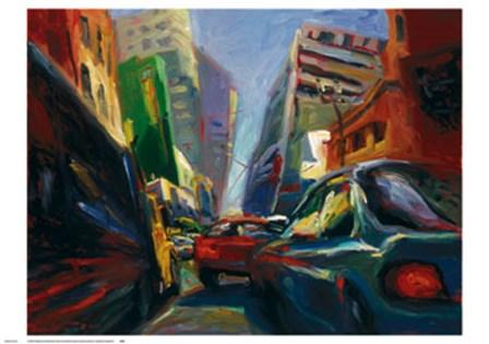 Heading Downtown by Veerakeat Tongpaiboon art print